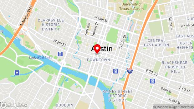 Google Map of 616 Lavaca St., Austin, TX 78701