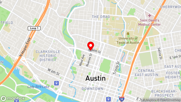 Google Map of 606 West 15th Street, Austin, TX 78701