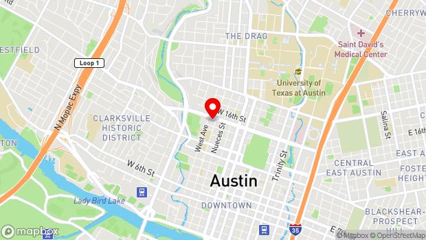 Google Map of 1410 Rio Grande Street, Austin, TX 78701