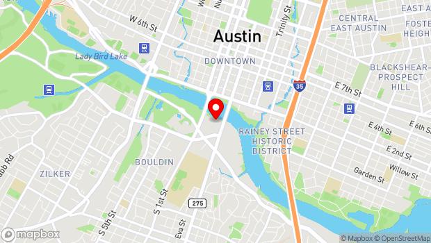 Google Map of 208 Barton Springs Road, Austin, TX 78704