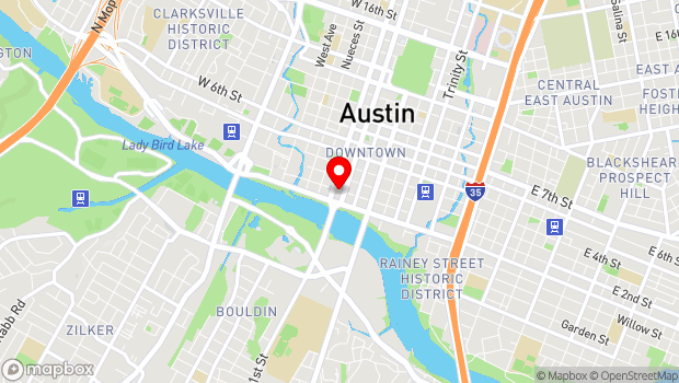 Google Map of 301 West Second Street, Austin, TX 78701