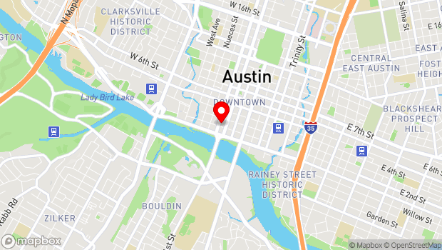 Google Map of 310 W. Willie Nelson Blvd, Austin, TX 78701