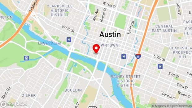 Google Map of 434 W 2nd St, Austin, TX 78701