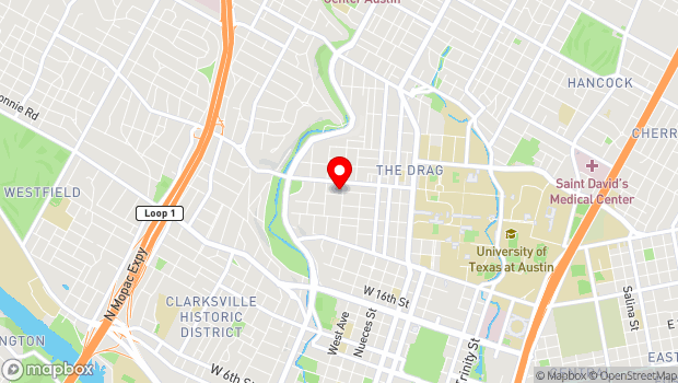 Google Map of 2310 San Gabriel, Austin, TX 78705