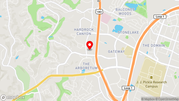 Google Map of 9828 Great Hills, Suite 800, Austin, TX 78759