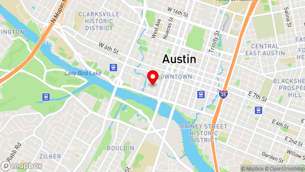 Google Map of 501 West 3rd Street, Austin, TX 78701