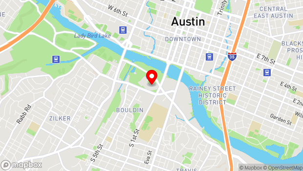 Google Map of 701 West Riverside Drive, Austin, TX 78704