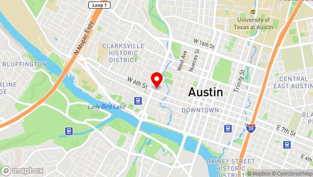 Google Map of 603 North Lamar Blvd., Austin, TX 78703