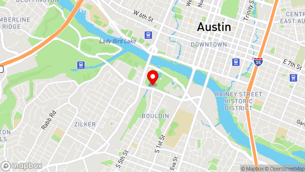 Google Map of 1110 Barton Springs Road, Austin, TX 78704
