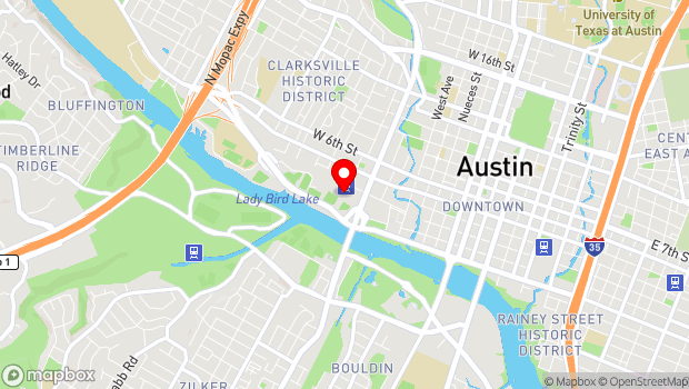 Google Map of 1100 W. Cesar Chavez, Austin, TX 78703