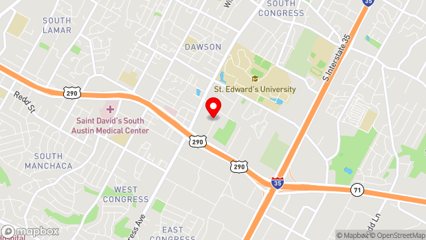 Google Map of 3800 Woodbury Drive, Austin, TX 78704