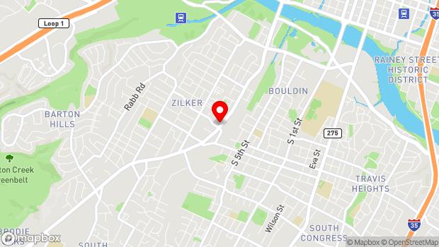 Google Map of 1516 South Lamar , Austin, TX 78704