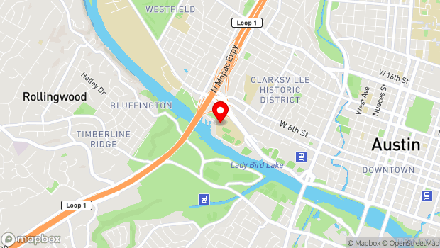Google Map of 1715 West Cesar Chavez, Austin, TX 78703
