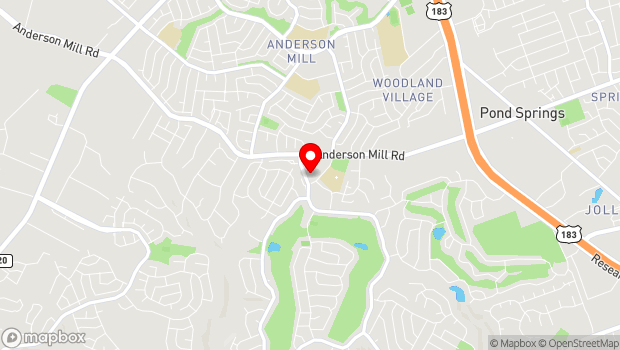 Google Map of 11512 Olson Drive, Austin, TX 78750