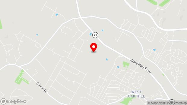 Google Map of 8901 W Hwy 71, Austin, TX 78735