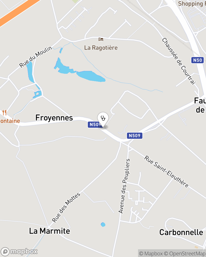 Map for doctor Jean-marie Nys