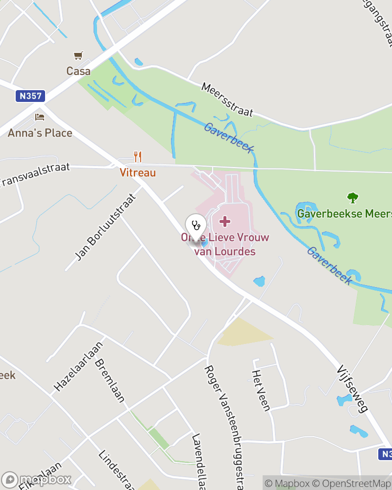 Map for doctor Monica Notermans