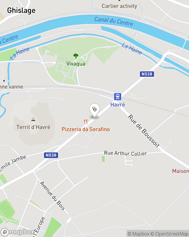 Map for doctor Fernand Naets