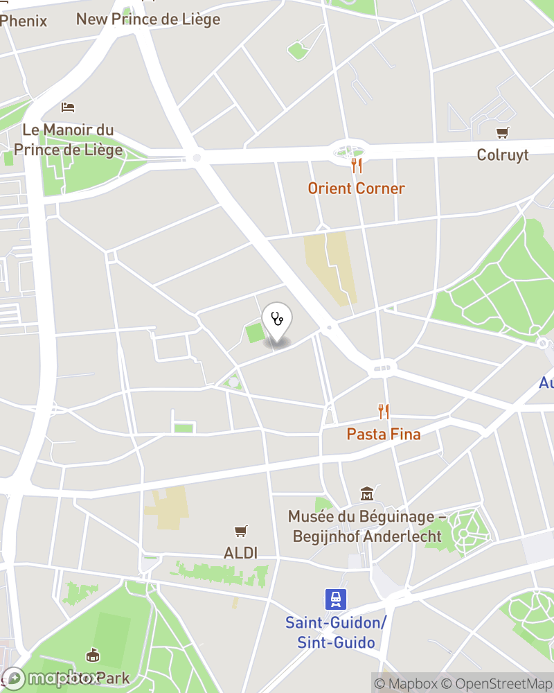 Map for doctor Pascal Oger