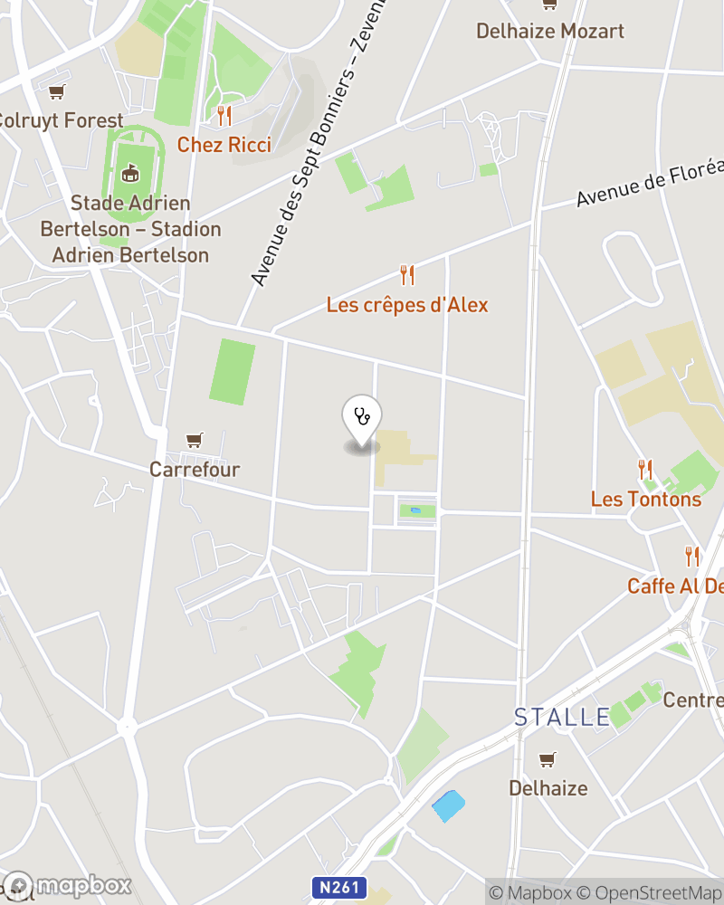 Map for doctor Liliane Neuville