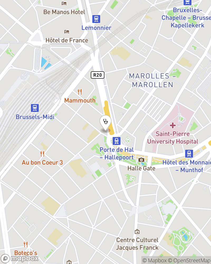 Map for doctor Nathalie Naessens