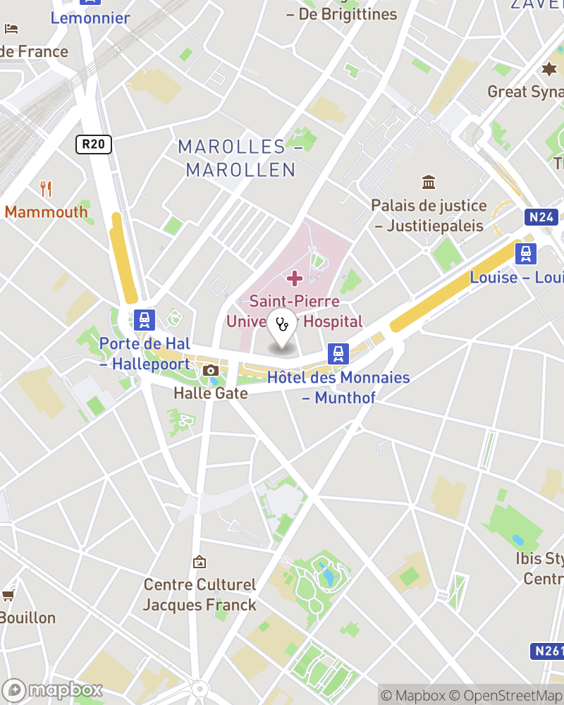 Map for doctor Jean Moreau