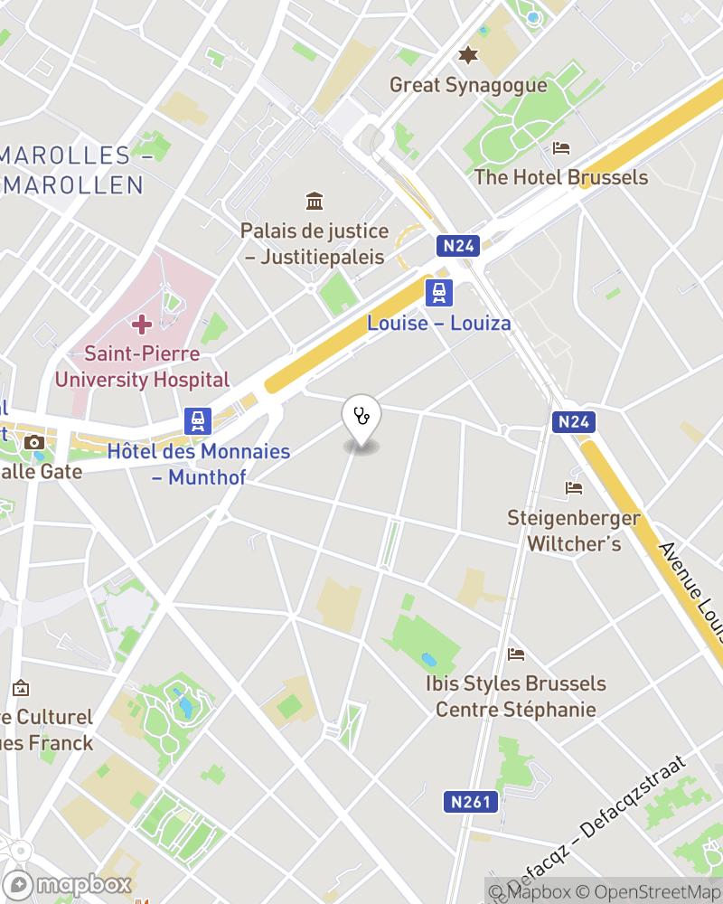 Map for doctor Martine Nelis
