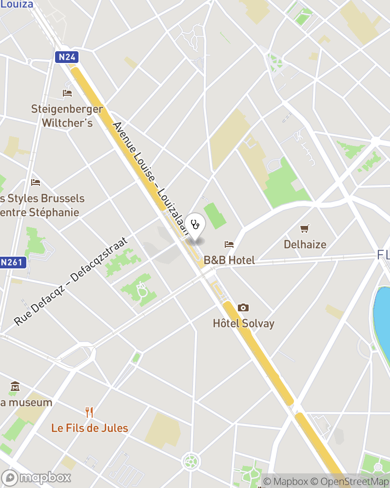 Map for doctor Marjorie Mourros