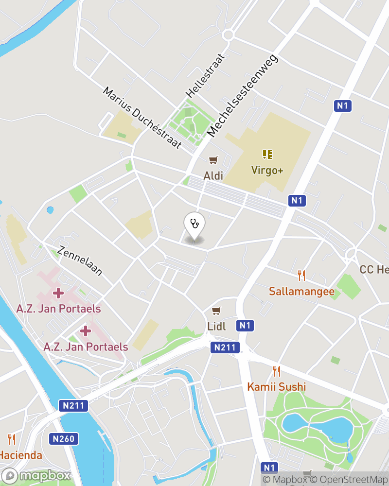 Map for doctor Afsaneh Najib