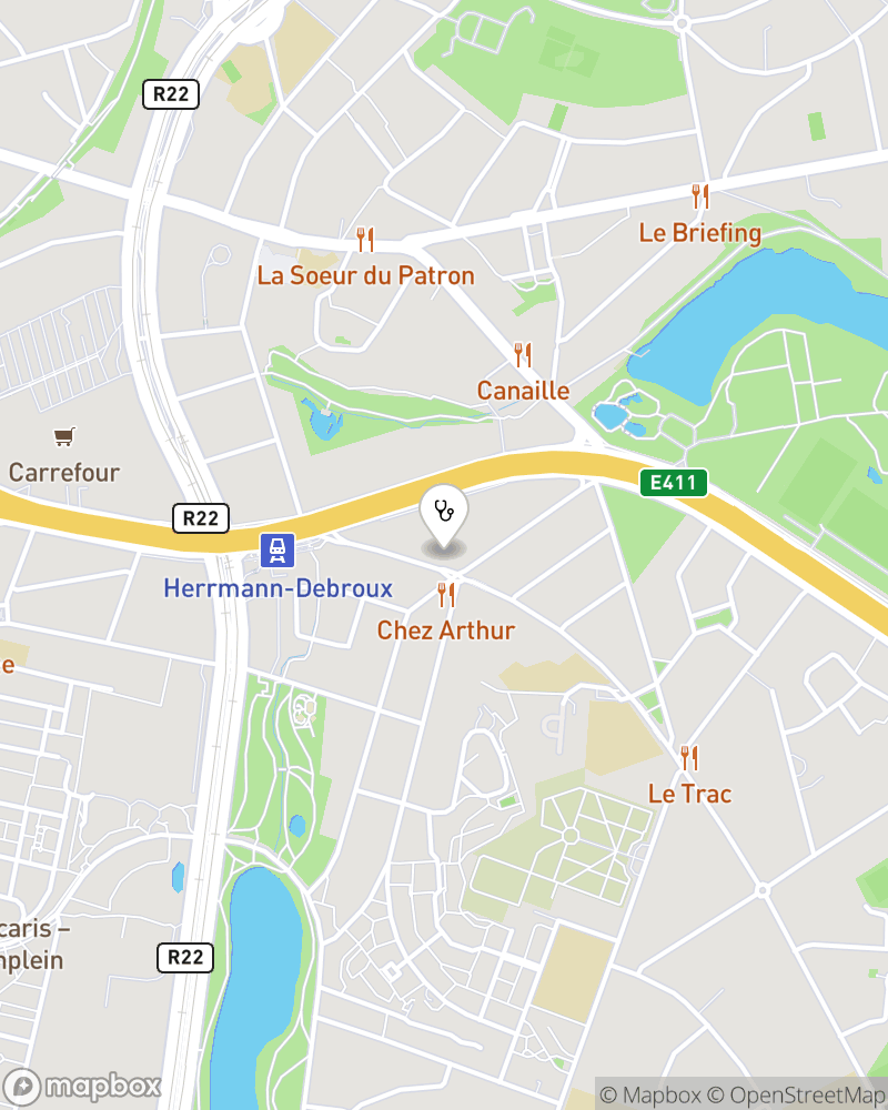 Map for doctor Marc Nameche