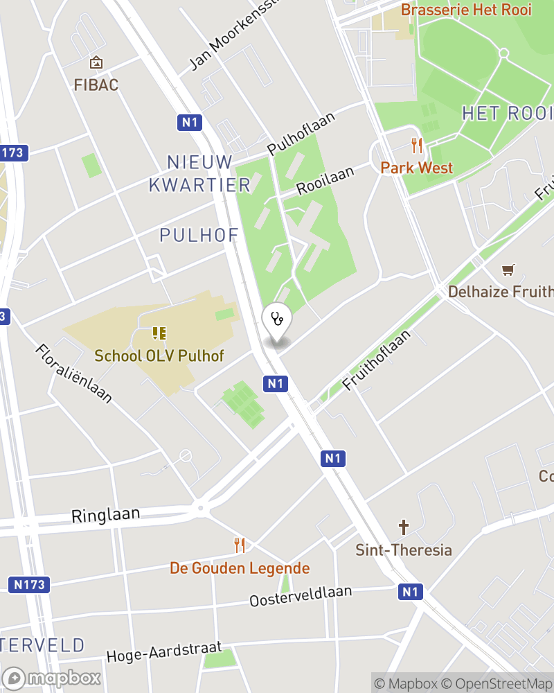 Map for doctor Astrid Moortgat