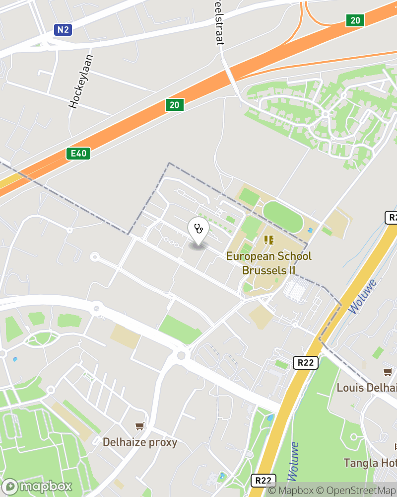 Map for doctor Pascale Olemans
