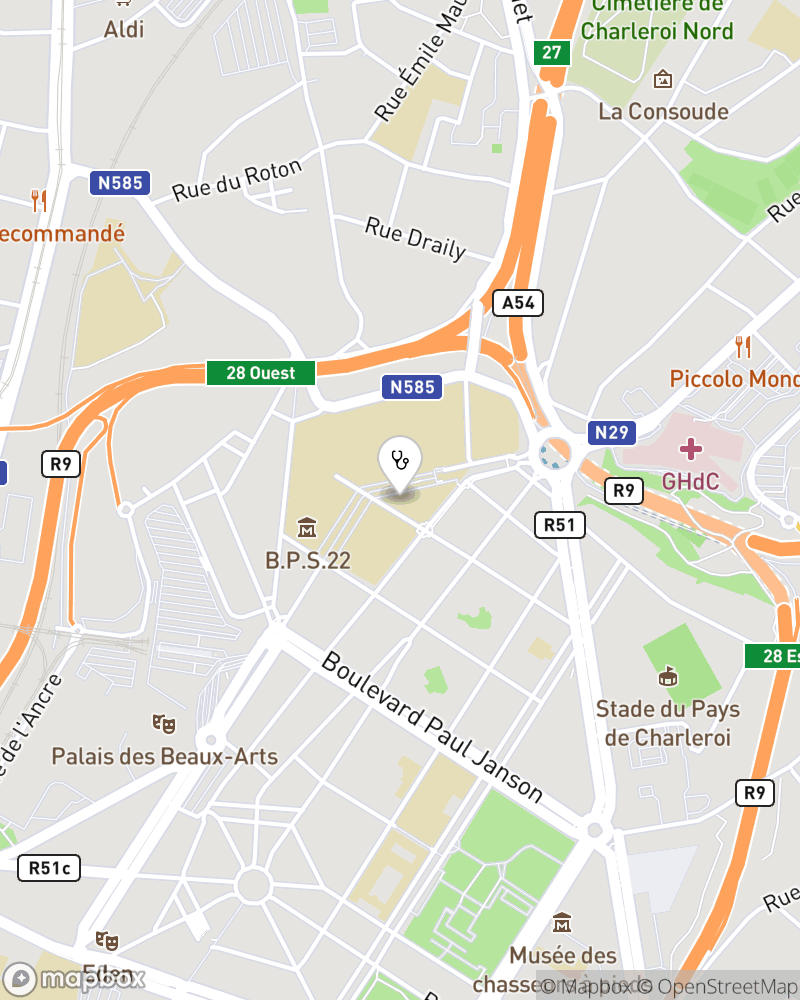 Map for doctor Dominique Nelis