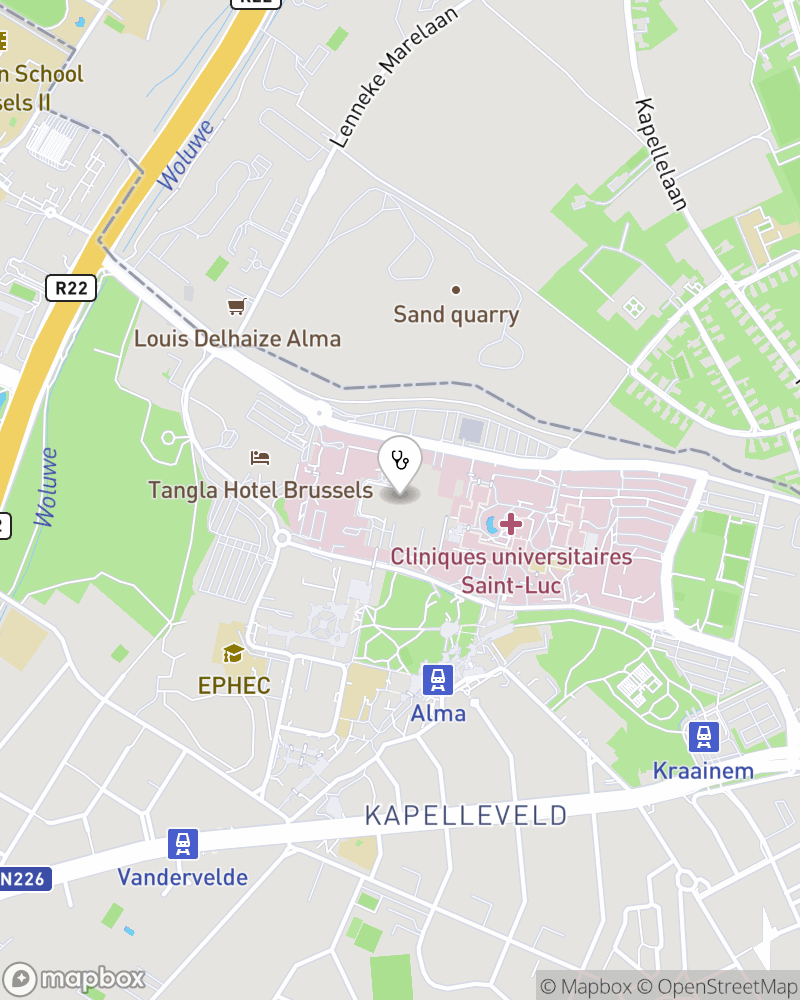 Map for doctor Marie-cécile Nassogne