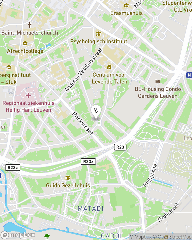 Map for doctor Godelieve Nagels