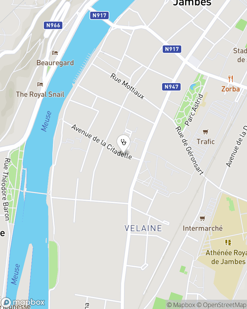 Map for doctor Yves Nozeret