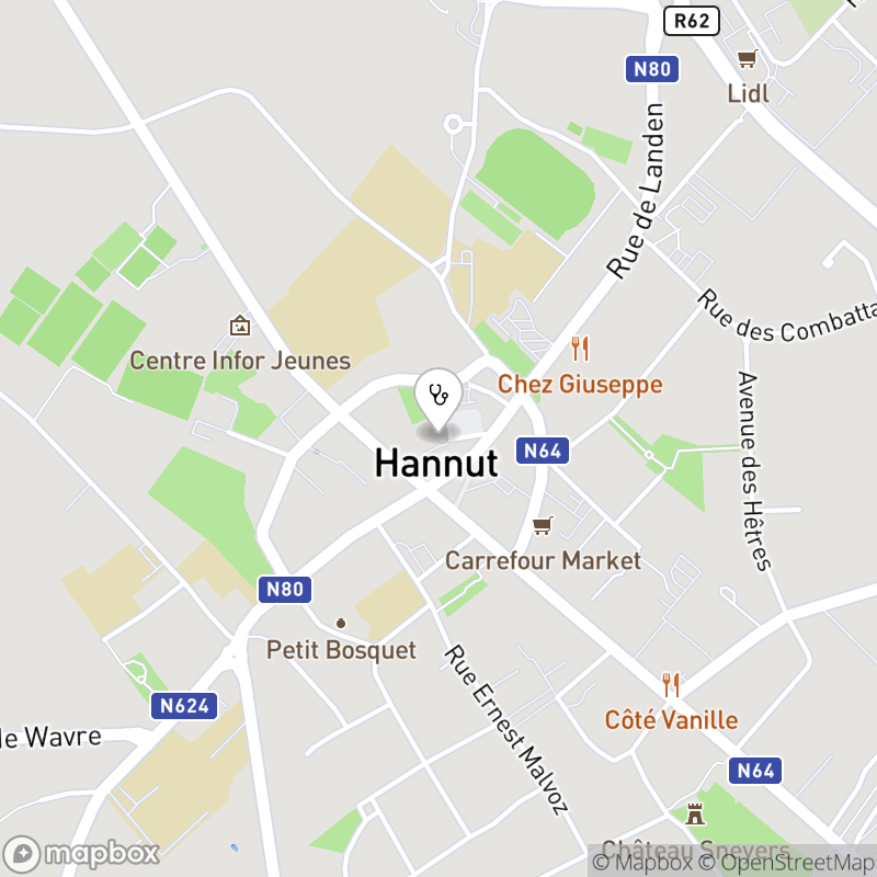 Map for doctor  Pharmacie de la grande place - heraly