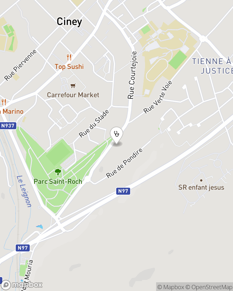 Map for doctor Pierre Cosyns
