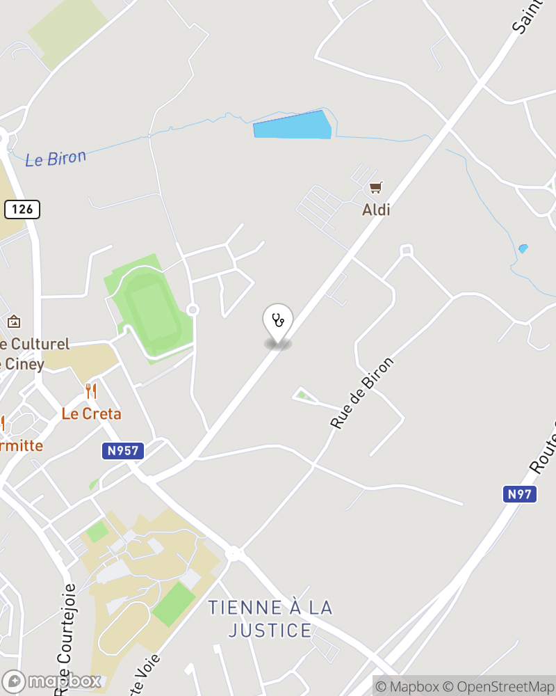 Map for doctor Tanguy De Thier