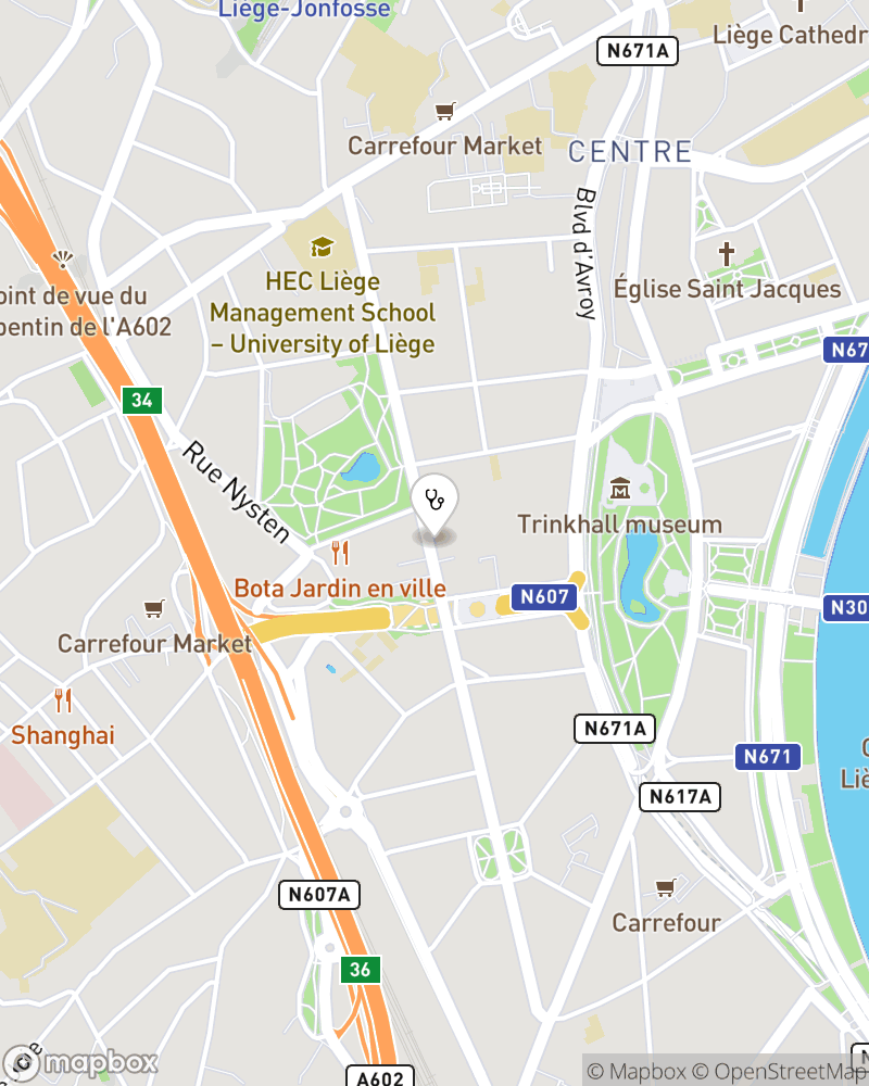 Map for doctor André Nossent