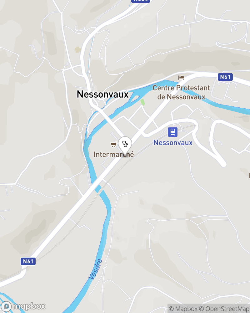 Map for doctor Eric Nisol
