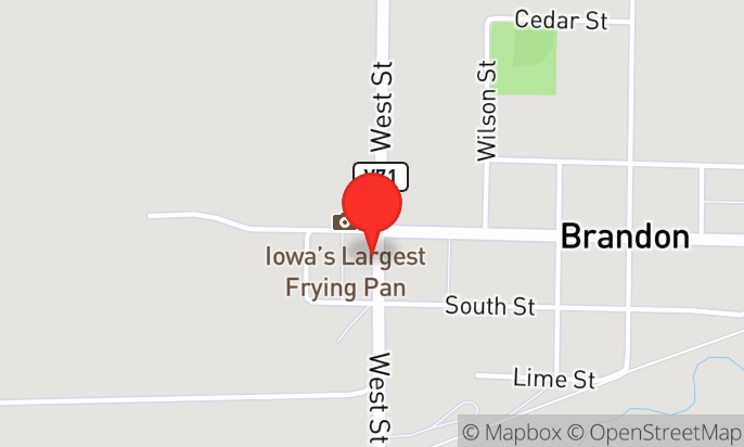 Iowa's Largest Frying Pan