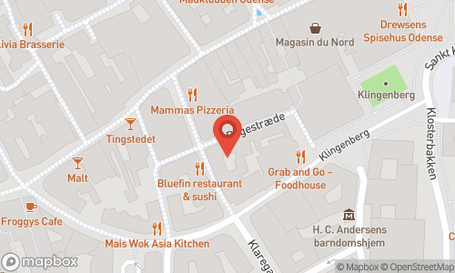 Map of the location of Højtidens Vine