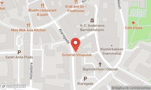Map of the location of S'vineriet vinapotek