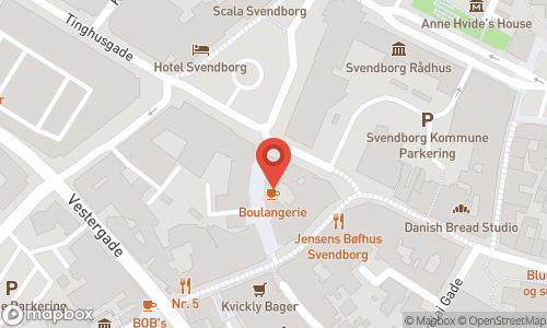Map of the location of Vinoble Svendborg