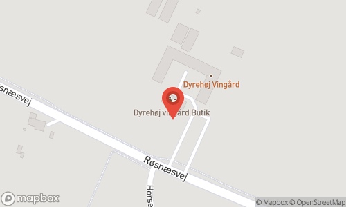 Map of the location of Dyrehøj Vingaard