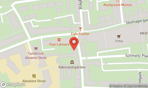 Map of the location of Otto Suenson Roskilde