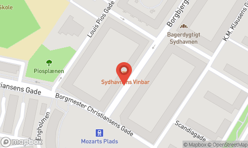 Map of the location of Sydhavnens Vinbar
