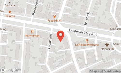 Map of the location of Frederiksberg Vinhandel
