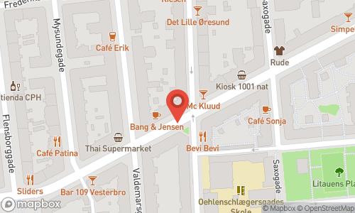 Map of the location of Champagnemiddag tirsdag den 24 november